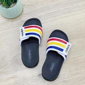 《7+1童鞋》ADIDAS 愛迪達 ADILETTE COMFORT可調式拖鞋 7451 白色