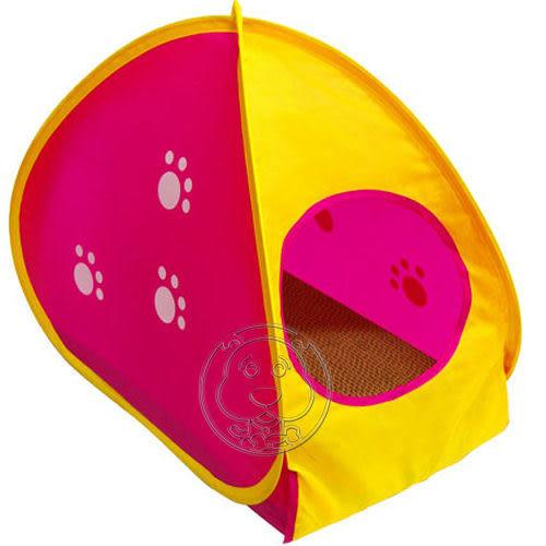【 培菓平價寵物網 】日本Marukan《帳篷造型貓抓板》超耐磨貓抓板 (CT-258)