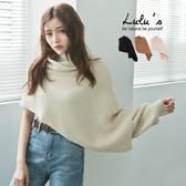 LULUS-Y坑條針織披巾-3色【08050295】