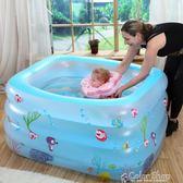 游泳池嬰兒游泳池家用保溫0-12個月寶寶洗澡桶充氣水池加厚成人兒童浴缸    color shopigo