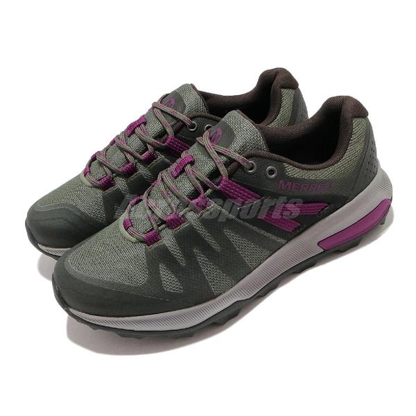 Merrell 戶外鞋 Zion FST Waterproof 綠 紫 女鞋 防水透氣 越野 低筒 運動鞋 【ACS】 ML035392
