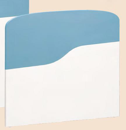 【森可家居】艾文斯3.5尺床頭片 7CM174-4 單人 藍色 白色 兒童