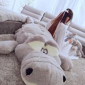 毛絨玩具鱷魚娃娃公仔可愛玩偶睡覺抱枕長條枕女孩生日禮物女生