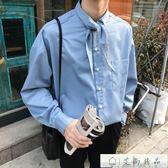 襯衫長 男士襯衣長袖襯衫尖領休閒上衣