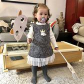女童背心裙秋冬洋氣裙子加絨寶寶馬甲裙嬰兒公主裙【奈良優品】