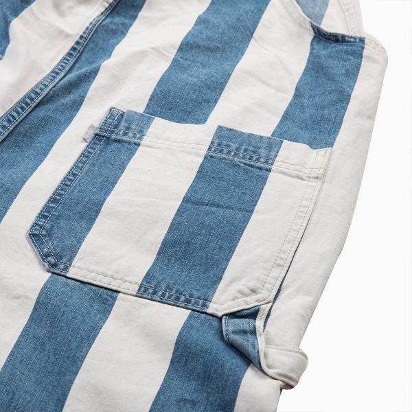 [買1送1]Levis 吊帶工作褲 男款 / 藍白條紋 / 銀標Silver Tab系列