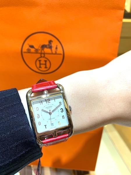 HERMES CAPE COD 經典H時尚經典款CC1.710.224/ZZ95-1全新品30mm 機械腕錶