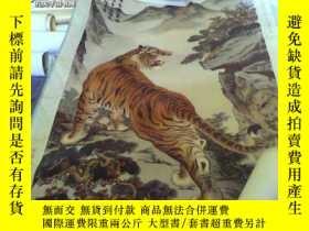 二手書博民逛書店1986年畫罕見虎 1開Y14350 天津市人民政府 出版198