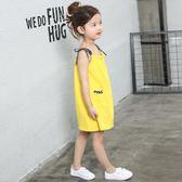 全館83折2019兒童夏裝裙子女童純棉吊帶裙中大童沙灘裙寶寶連身裙睡裙8歲