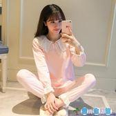 孕婦睡衣月子服棉質產婦家居服產後薄款哺乳衣外出套裝  LY3938『愛尚生活館』