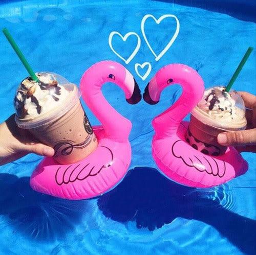 梨卡 - 絕美天鵝造型飲料杯手機座游泳圈/一組2入 - 另售鵝彩虹馬浮板M073
