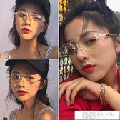 韓版透明平光鏡女素顏大框網紅眼鏡框架潮軟妹個性眼睛男復古 韓慕精品