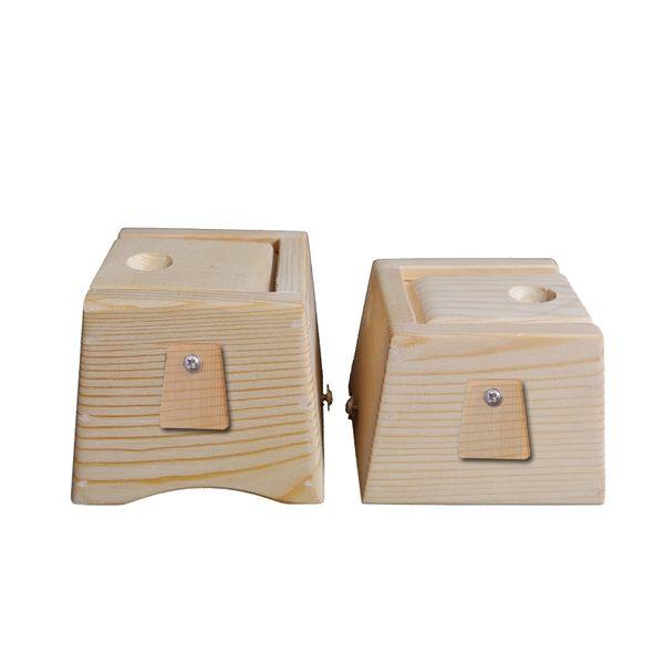 單孔木製隨身灸頸椎木質艾灸盒可攜式溫灸器家用實木頸部肩部艾炙 檸檬衣舍