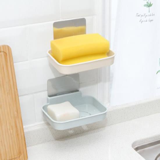 ♚MY COLOR♚笑臉無痕貼壁掛式肥皂盒 衛生間 浴室 廚房 強力 無痕貼 香皂托 瀝水架【P408】