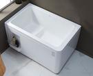 【麗室衛浴】BATHTUB WORLD 小空間 壓克力造型缸LS 1204SQ 需靠牆定位安裝 120*75*H70CM
