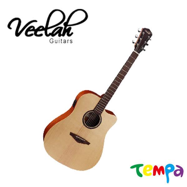 【Tempa】Veelah (V1-DCE) 41吋 民謠吉他
