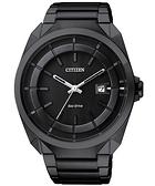 CITIZEN Eco-Drive 時尚紳士風腕錶-IP黑 AW1015-53E