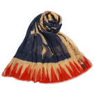 Vivienne Westwood熱情奔放薄披肩圍巾(藍紅)910528-2
