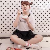 Poly Lulu 法式甜點印圖俏皮短裙套裝-白【91280050】