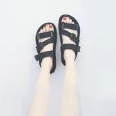 韓版2019夏季新款百搭學生羅馬鬆糕鞋港味復古仙女風平底涼鞋女潮