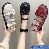 小皮鞋 可愛ins卡哇伊鞋子果泡甜心圓頭學生單鞋洛麗塔jk制服蝴蝶結女鞋子 3C數位百貨