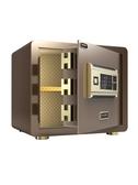 大一保險箱家用小型全鋼 指紋密碼辦公保險櫃防盜床頭 迷你保管櫃CY  (pink Q 時尚女裝)