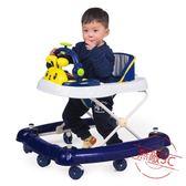嬰兒童寶寶助學步車6/7-18個月多功能帶音樂防側翻可折疊手推可坐學步車【限量85折】