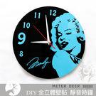 瑪麗蓮夢露黑膠唱片造型時鐘 靜音掛鐘 復古普普風 牆面裝飾 好萊塢女星特色時鐘-米鹿家居