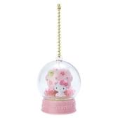 〔小禮堂〕Hello Kitty 水晶球雪球造型吊飾《粉》雪球掛飾.擺飾.燦爛櫻花系列 4901610-19989