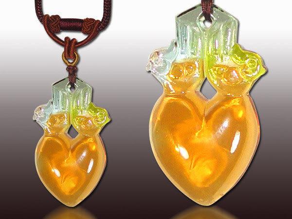 鹿港窯~居家開運水晶琉璃項鍊~同心 附精美包裝◆免運費送到家◆