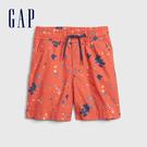 Gap男幼童 Gap x Disney 迪士尼系列米奇潑漆鬆緊休閒短褲 541830-珊瑚紅