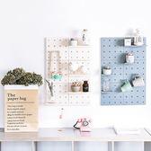 ✭米菈生活館✭【A22】洞洞牆面裝飾收納架 塑料 客廳 廚房 臥室 隔板 壁掛 牆上置物架 佈置