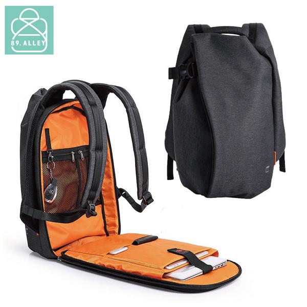 後背包 防水面料潮流商務USB款全開式筆電平版後背包 男包 89.Alley-HB89295