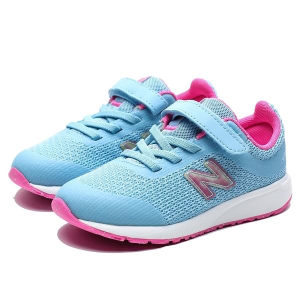 NEW BALANCE 455 水藍 粉 雷射 網布 黏帶 休閒鞋 運動鞋 童鞋 小童 (布魯克林) IT455US