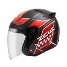【東門城】ZEUS ZS-609 I18 (消光黑/ 紅) 四分之三罩安全帽