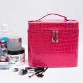 大容量正韓化妝包多功能小號方袋便攜手提多層化妝品收納盒簡約箱 【好康八八折】