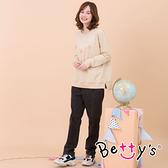 betty's貝蒂思 復古風高腰牛仔長褲(牛仔黑)