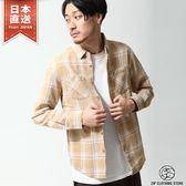法蘭絨襯衫 長袖格紋上衣 日本空運直送 S-M