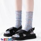 中筒襪襪子女襪子女中筒襪透明蕾絲春夏堆堆襪薄款網紗玻璃襪日系ins潮涼鞋襪【寶貝 新品】