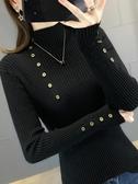 打底衫半高領毛衣女加厚2020秋冬女士修身黑色打底衫洋氣外穿針織衫春季新品
