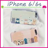 Apple iPhone6/6s 4.7吋 Plus 5.5吋 藍光小貓背蓋 可愛貓咪手機套 卡通貓爪保護套 全包邊手機殼 保護殼