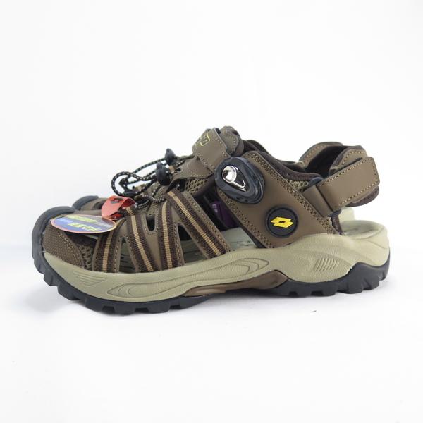 LOTTO 排水護趾涼鞋 男款 磁扣 反光 拖涼鞋兩穿 LT0AMS1631 棕【iSport愛運動】