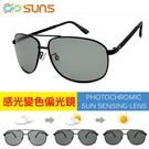 MIT感光變色偏光太陽眼鏡 (黑框) 流行時尚 男女墨鏡 重量輕盈 抗紫外線UV400 台灣製