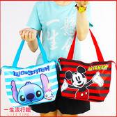 迪士尼 米奇 史迪奇 小熊維尼 正版 兒童 卡通 保冷保熱 手提便當袋 野餐袋 飲料袋  B19084