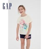 Gap 女童 Gap x Disney迪士尼系列公主圓領短袖T恤 591031-象牙白