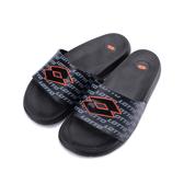 LOTTO 運動文字套式拖鞋 黑橘 LT9AMS0820 男鞋 鞋全家福