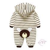 嬰兒連身裝 新生兒冬裝女嬰兒連身衣服初生兒夾棉男寶寶哈衣冬季棉衣加厚 七夕情人節