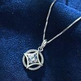 項鍊 守護愛情奢華鋯石 30%銀 鎖骨鍊