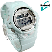 Baby-G BG-169R-3 清新甜美氣質女孩休閒電子錶款 白色金屬防撞器設計 粉綠 防水 BG-169R-3DR CASIO卡西歐