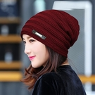 帽子女冬天加絨毛線帽秋韓版潮時尚百搭韓國休閒簡約保暖針織套裝 店慶降價
